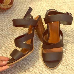 MIA Shoes - Strappy black heels