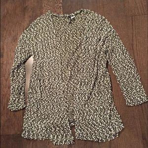 [H&M] Thin Black and White Cardigan Sweater!