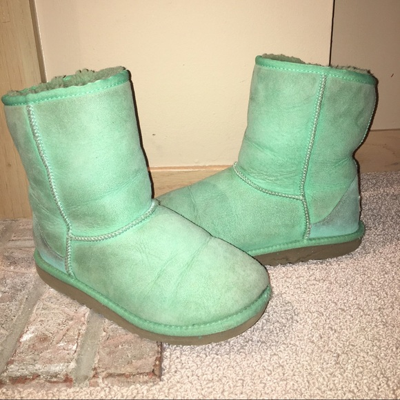 Frosty mint green uggs kids 5/ Women's 6.5-7