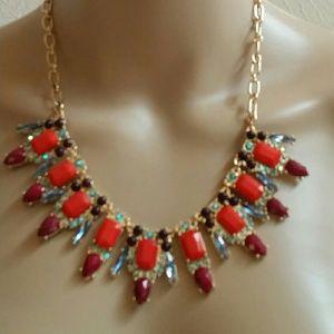 MHI Jewelry - Womens Goldtone Fashion Statement Bib Necklace
