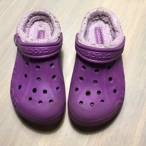 CROCS Other - Purple fleece lined Crocs - size 10/11