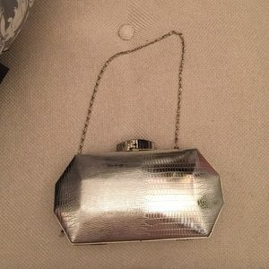 Jessica McClintock Handbags - Jessica McClintock Silver Clutch