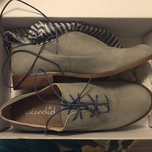 """Anthropologie Shoes - NWT Anthropologie """"Orlando"""" gray Oxford loafers"""