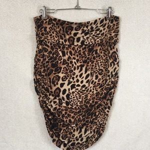 i jeans by Buffalo Dresses & Skirts - Animal Leopard Print Ruched Bodycon Skirt