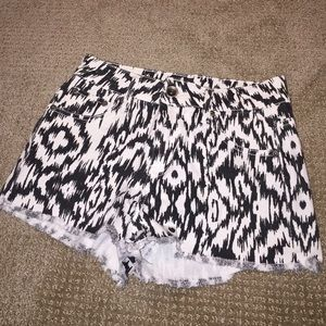 Patterned High-Waisted Shorts
