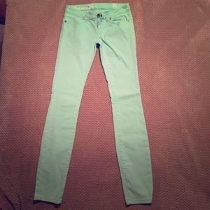 Mint green Hurley skinny jeans