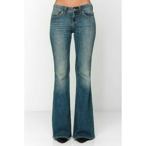 People's Liberation Denim - Light Wash Flare Bell Bottom Jeans