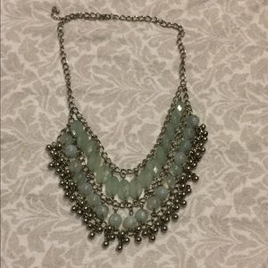 Light green/blue statement necklace