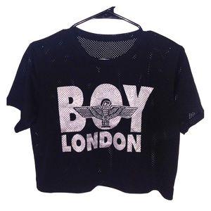 Boy London cropped jersey top