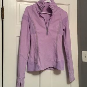 Purple Lululemon Long Sleeve Half Zip
