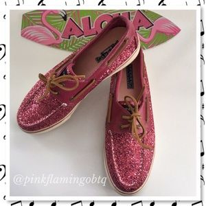 Sperry Top-Sider Shoes - Sperry Top-Sider Pink Glitter Boat Shoes
