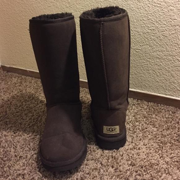 chocolate brown ugg boots