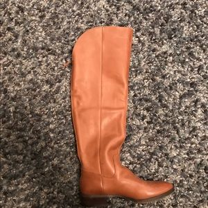 Cognac sole society OTK boots