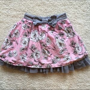 Other - Girls, sz 6X, floral skirt with tulle petticoat