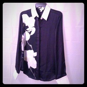 Altuzarra Tops - Altuzarra NWT floral silky collar shirt size M