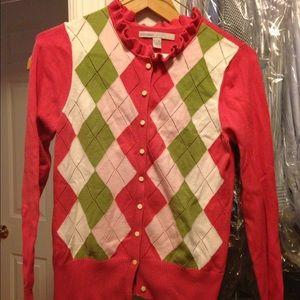 SPRING  argyle cardigan sweater