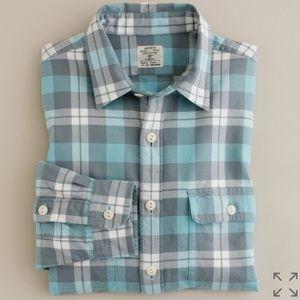 J.Crew Sunwashed Flannel Shirt in Graham Plaid