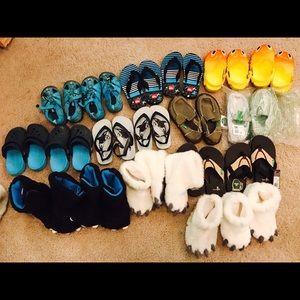 tons. toms. crocs. puma. rain boots. snow boots. vans. converse and more