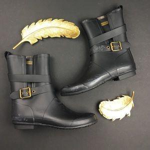 Burberry Shoes - Burberry Black Mid Buckle Rain Boots