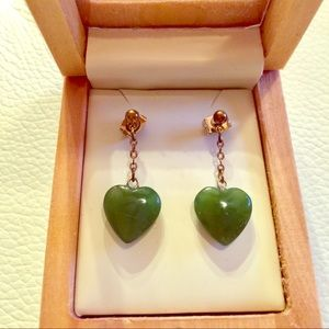 Jade Heart earrings