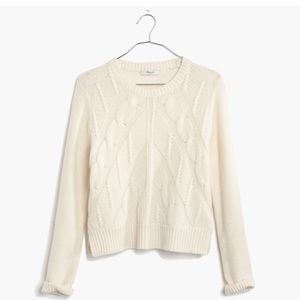 Madewell Cropped Sweater NWOT