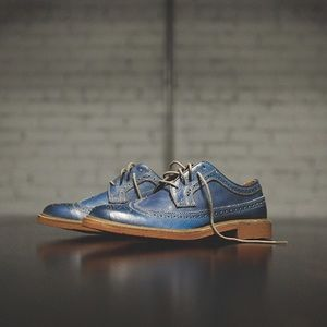 👨 Florsheim Limited Blue Oxford Derby Shoes