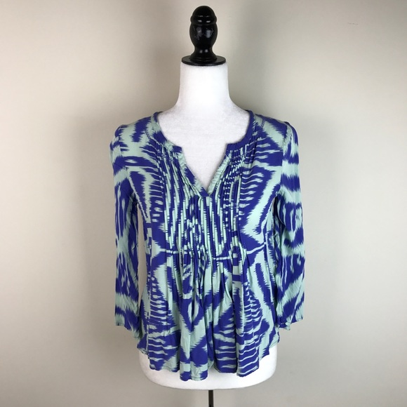 Anthropologie Tops - Vanessa Virginia Anthropologie Mahdia Ikat Blouse