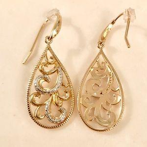 Jewelry - Gold Plated Dangle Earrings NWOT