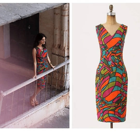 Anthropologie Dresses & Skirts - Anthropologie Fish Fry Glass Glow Shift
