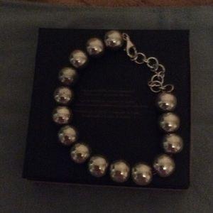 Sterling Silver ball bangle bracelet.