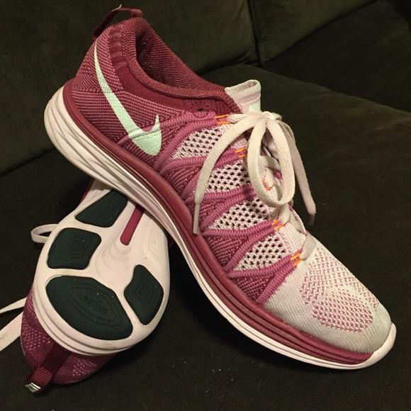super popular bd26d f197a 63% off Nike Shoes - Nike Flyknit lunar 2 pink plum women s 8 39 EUR from  Cameron s closet on Poshmark