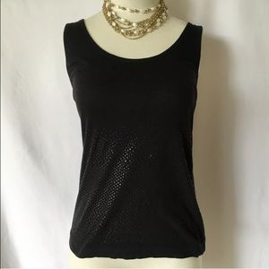 Dries Van Noten Tops - Dries Van Noten Metallic Spot Polka Dot Tank Small