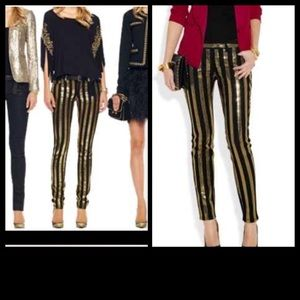 Michael Kira Gold Sequence jeans
