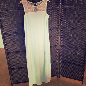 Love 21 Teal Vintage inspired Maxi dress