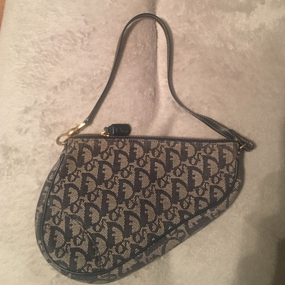 Christian Dior Handbags - Mini Dior Blue Saddle Bag 35e45281b85c0