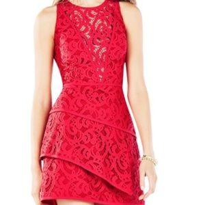 BCBGMaxazria Hannah Tiered Dress. Size 8