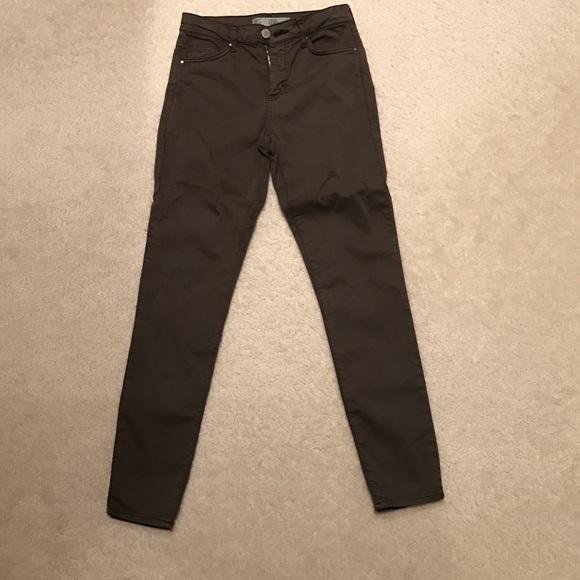 44% off Topshop Denim - Topshop Leigh olive colored skinny jeans ...