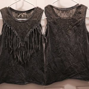 Buckle Tops - Gimmicky by Buckle fringe pieced tank
