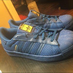 Adidas Shoes - Adidas Navy Knit Superstar