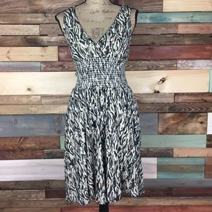 Express Dresses & Skirts - Express Earth Tone Patterned Fit & Flare Dress