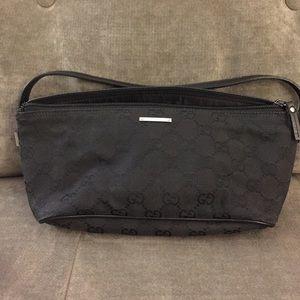 f7c52b2636 Gucci Bags - Used Gucci Canvas Boat Pochette Black Bag