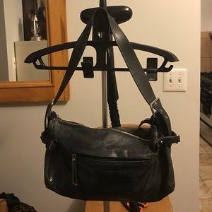 Francesco Biasia Handbags - Francesco Biasia black leather shoulder bag