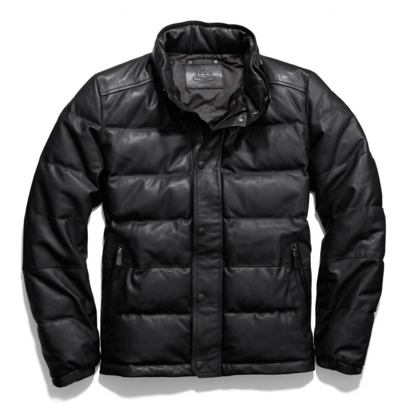 46% off Coach Other - SOLD Coach Clarkson Leather Down Jacket ...