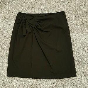 T Tahari Dresses & Skirts - T Tahari Faux Wrap Black Skirt
