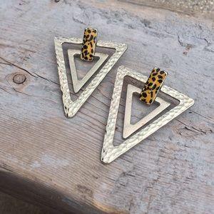 Jewelry - BEBE gold leopard earrings