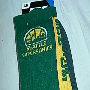 For Bare Feet Other - FBF Seattle Supersonics Team Vortex Crew Socks