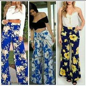 "Pants - ""Fabulous in Florals"" palazzo pants!!"