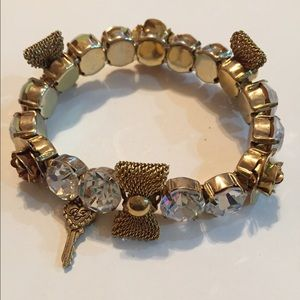 Bundle Betsey Johnson rose earrings and bracelet