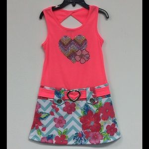 Zunie Other - Zunie Embellished Heart/Flower Design Dress Size 5