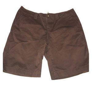 "Old navy brown 8"" inseam shorts"